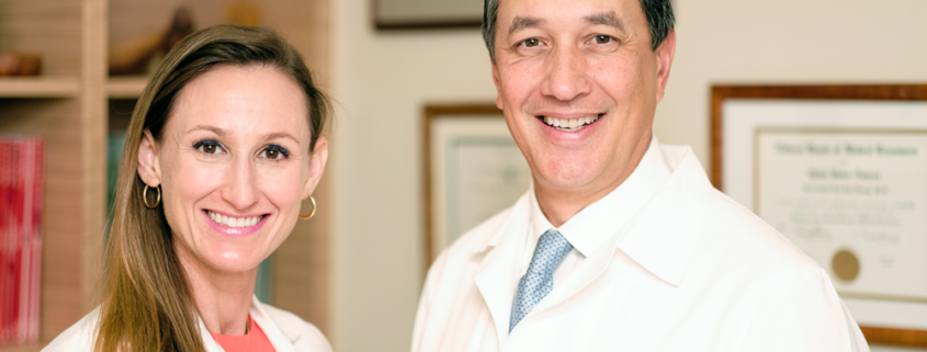Dr. Christopher Huang and Dr. Christina Arnett